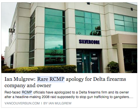 RCMP Apology Silvercore Training Delta BC